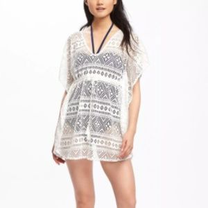 Other - sz L or XL white lace coverup